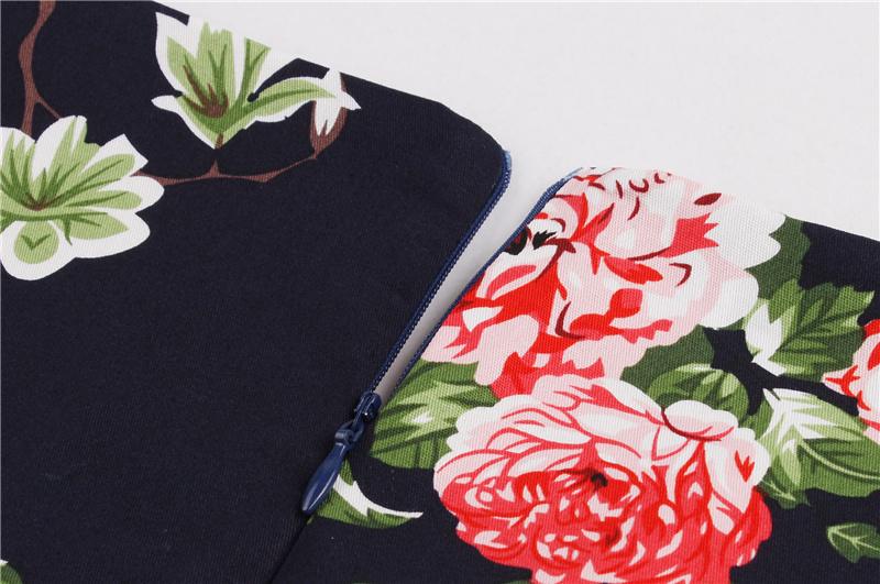 Kostlish 9 Style Print Summer Dress Women 2017 Sleeveless Swing 1950s Hepburn Vintage Tunic Dress Elegant Party Dresses Sundress (78)