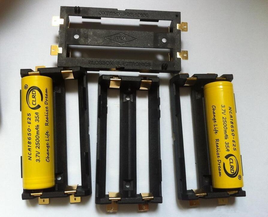 4xd Caja de batería Soporte Con Soldadura Etiquetas