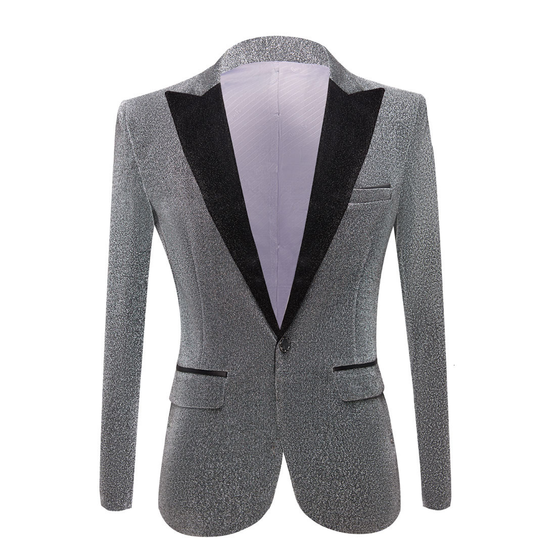 Aasop 2019 pyjtrl men's fashion shiny purple gold red black silver gray suit  jacket wedding groom prom singers blazers men blazer slim fit ly191203 from