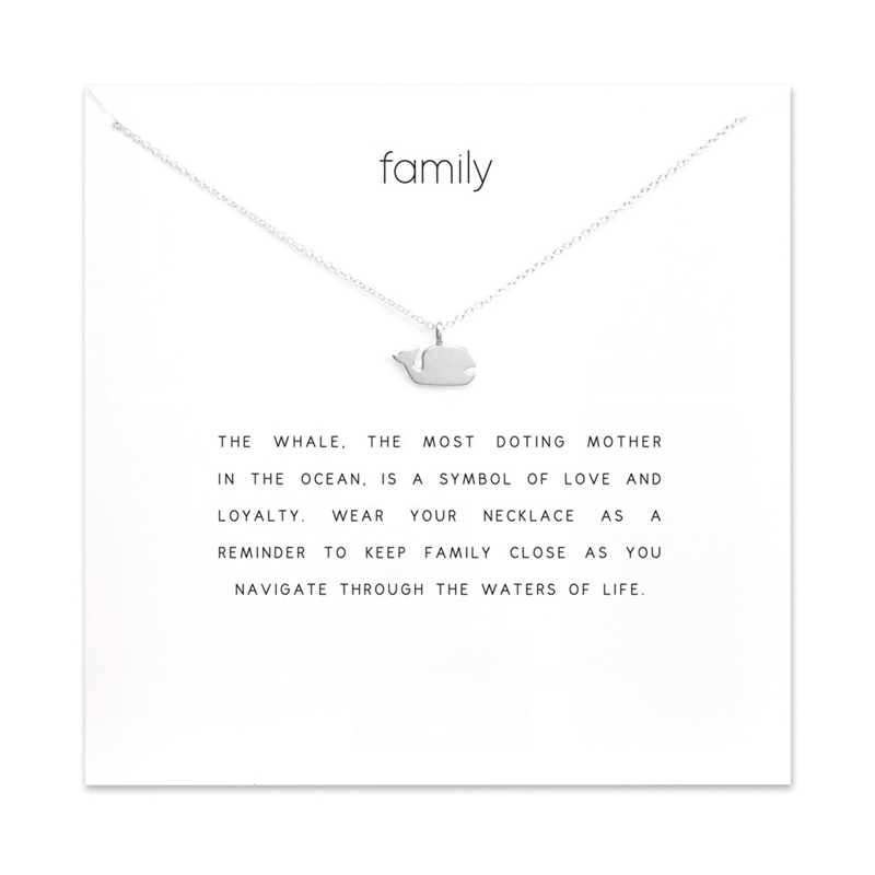 whale necklace 925