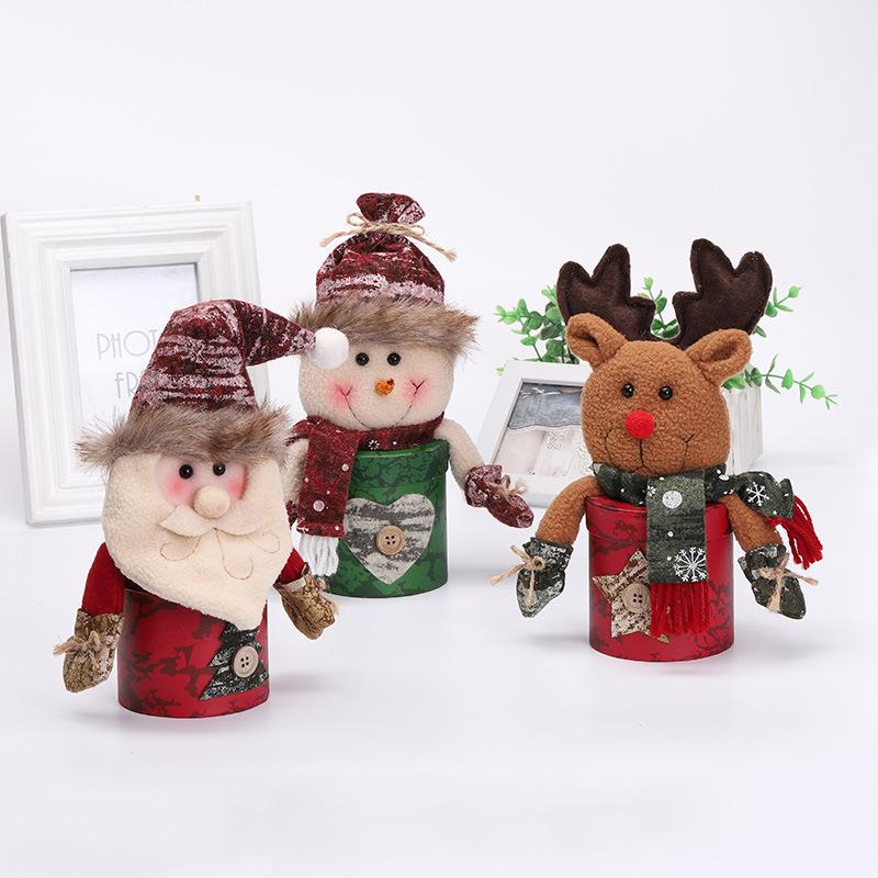 Christmas Candy Box Jar Lovely Xmas Santa Elk Snowman Sweet Sugar Decor/_Hot