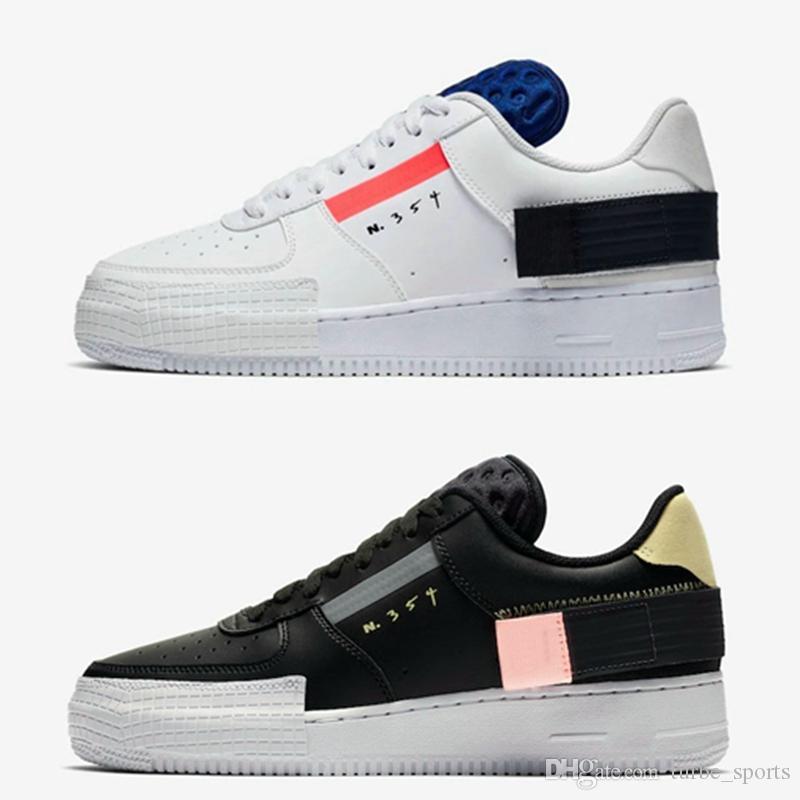 Nouveau 1 faible TYPE N354 Skateboard Chaussures Hommes Femmes Blanc Noir Outdoor N.354 Skate Sneakers Baskets Designer Spécial Chaussures CI0054 001