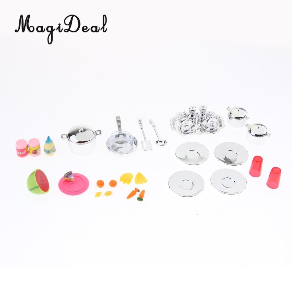 Mini Kitchen Set Kids Pretend Play Cooking Tools Set Plastic Cooking Pot Pan Accessories Kitchen Toy