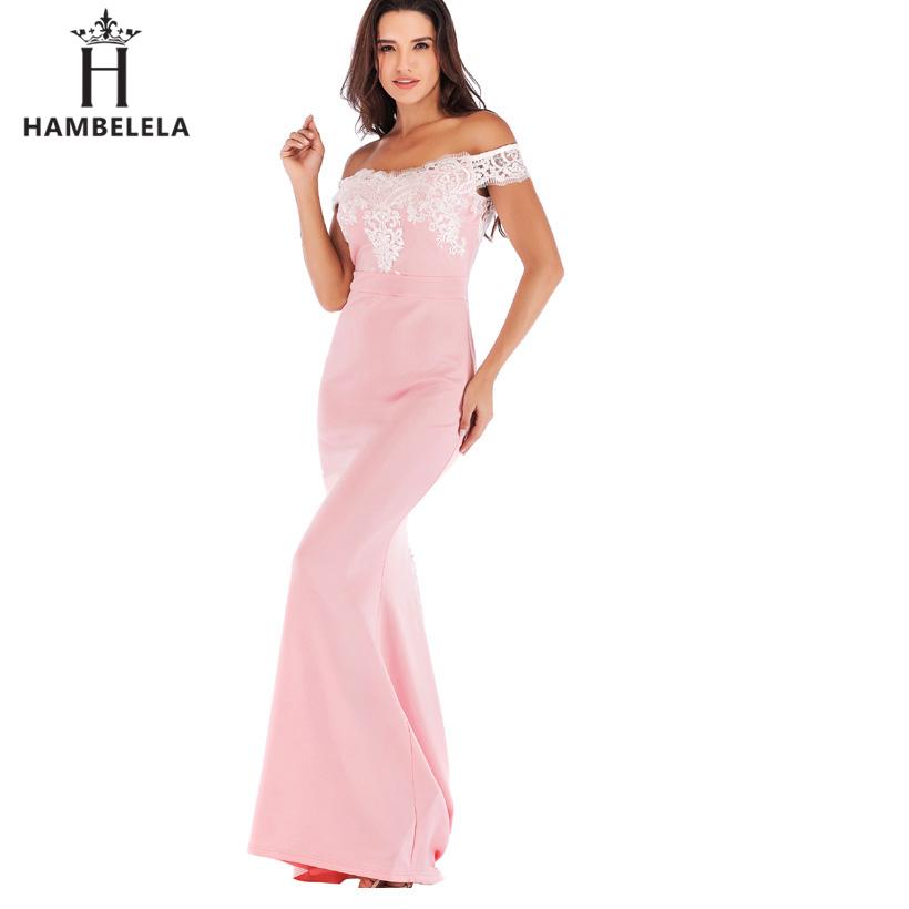 HAMBELELA Vestido De Festa Pink Black Red Mermaid Dress Lace Top Bodice Slim Long Formal Party Dress Charming Wedding Party Gown (2)