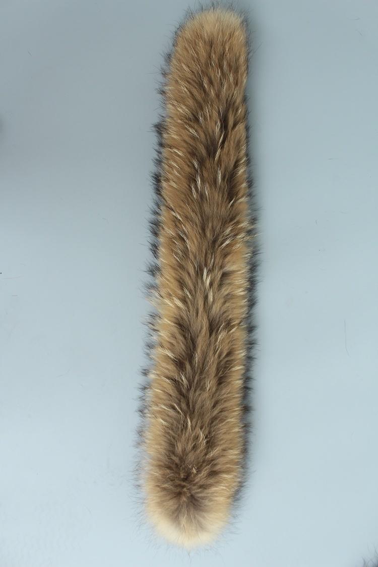 natural real raccoon fur hoody trim collar (12)