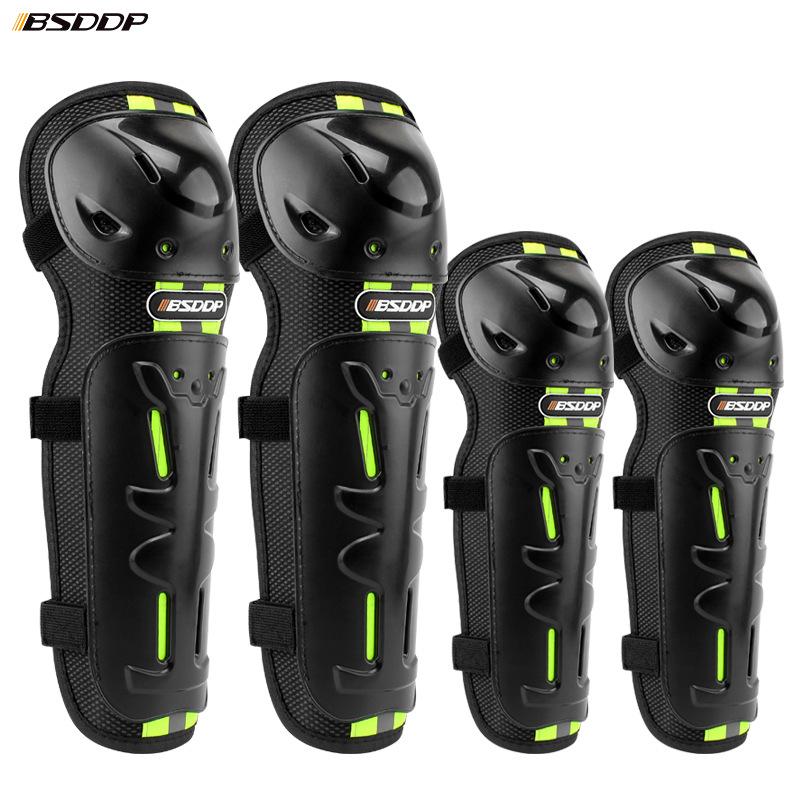 Ginocchiere Per moto Gomitiere 4 Pz Kit di Protezioni per Parastinchi per Ginocchia per Gomiti da Motocicletta adulti Protezione per stinchi da ginocchio per Gomiti da Motocross