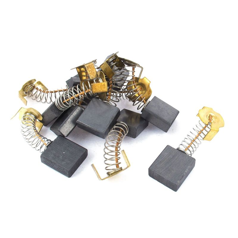 10Pcs 17 x 19 x 7mm Carbon Brushes Generic Electric Motor 17 x 19 x 7mm