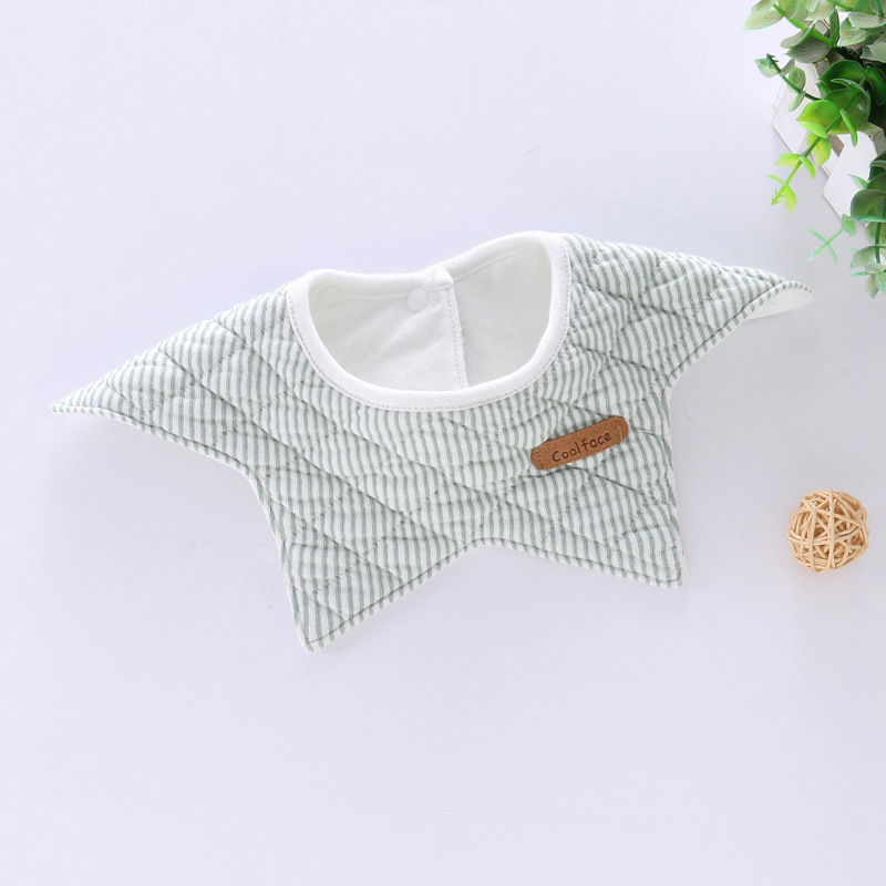 100% Cotton Waterproof Baby Bibs Fashion Round Neck Baby Girls Bibs 360 Degree Flower Star Bib For Girls Baby Girls Clothing (13)