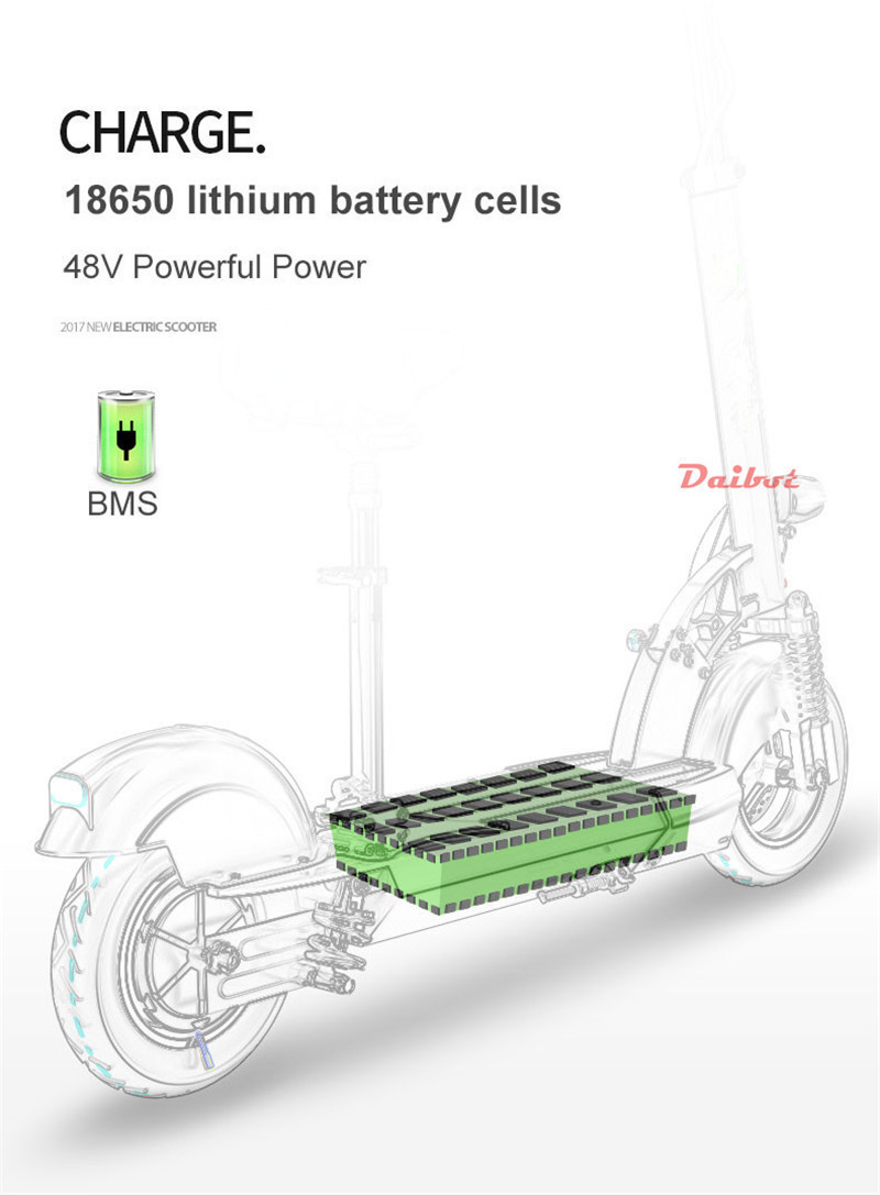 Daibot Folding Electric Bike 48V Two Wheel Electric Scooters 10 inch Motor 500W Portable With Seat Electric Scooters Adults (31)