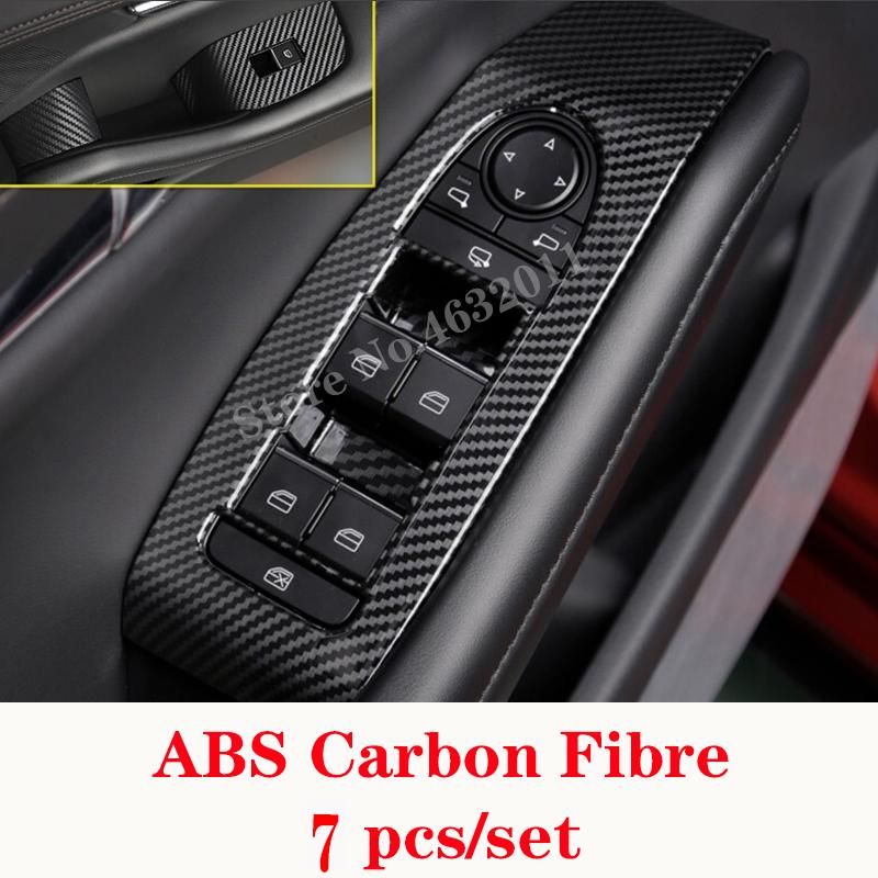 Adesivo per auto 4 PCS in fibra di carbonio Sportello dauto Maniglia Telaio adesivi decorativi for Porsche Macan
