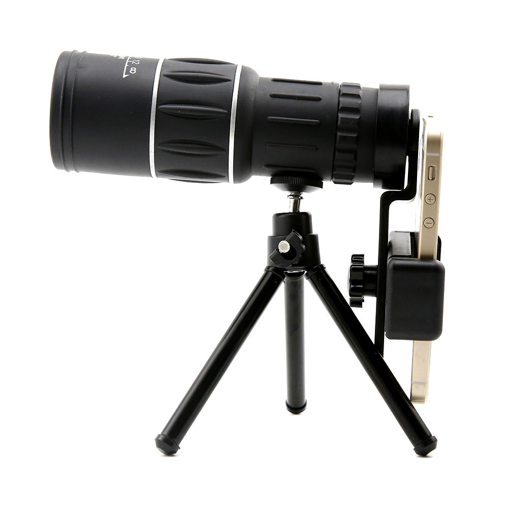 16X52 Dual Focus Telescope Lens HD Zoom Optical Telephoto Lens Universal for Smartphones Outdoor Camping Fishing With Tripod (1)