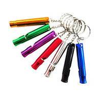 mini colorful whistle metal keyring Camping Hiker Survival W...