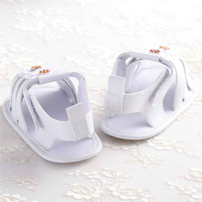 Summer Baby Girl Shoes Toddler Newborn Baby Girls Solid Flower Sandals Soft Sole Anti-slip Shoes Baby Girls Sandals M8Y16 (7)