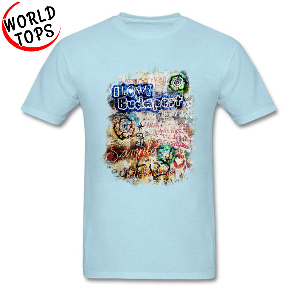 Graffiti Szimpla I Love Budapest Mother Day Pure Cotton Round Collar Tops T Shirt Funny Clothing Shirt Wholesale Top T-shirts Graffiti Szimpla I Love Budapest light