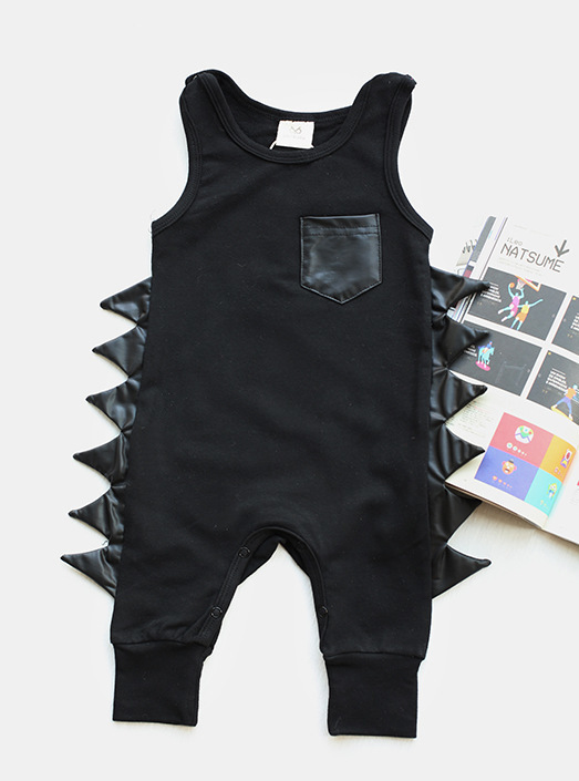 Baby Clothes 2019 Summer Newborn Baby Boys Girls Romper Cotton Dinosaur Sleeveless Body Suit Clothing Toddler Infant Jumpsuit