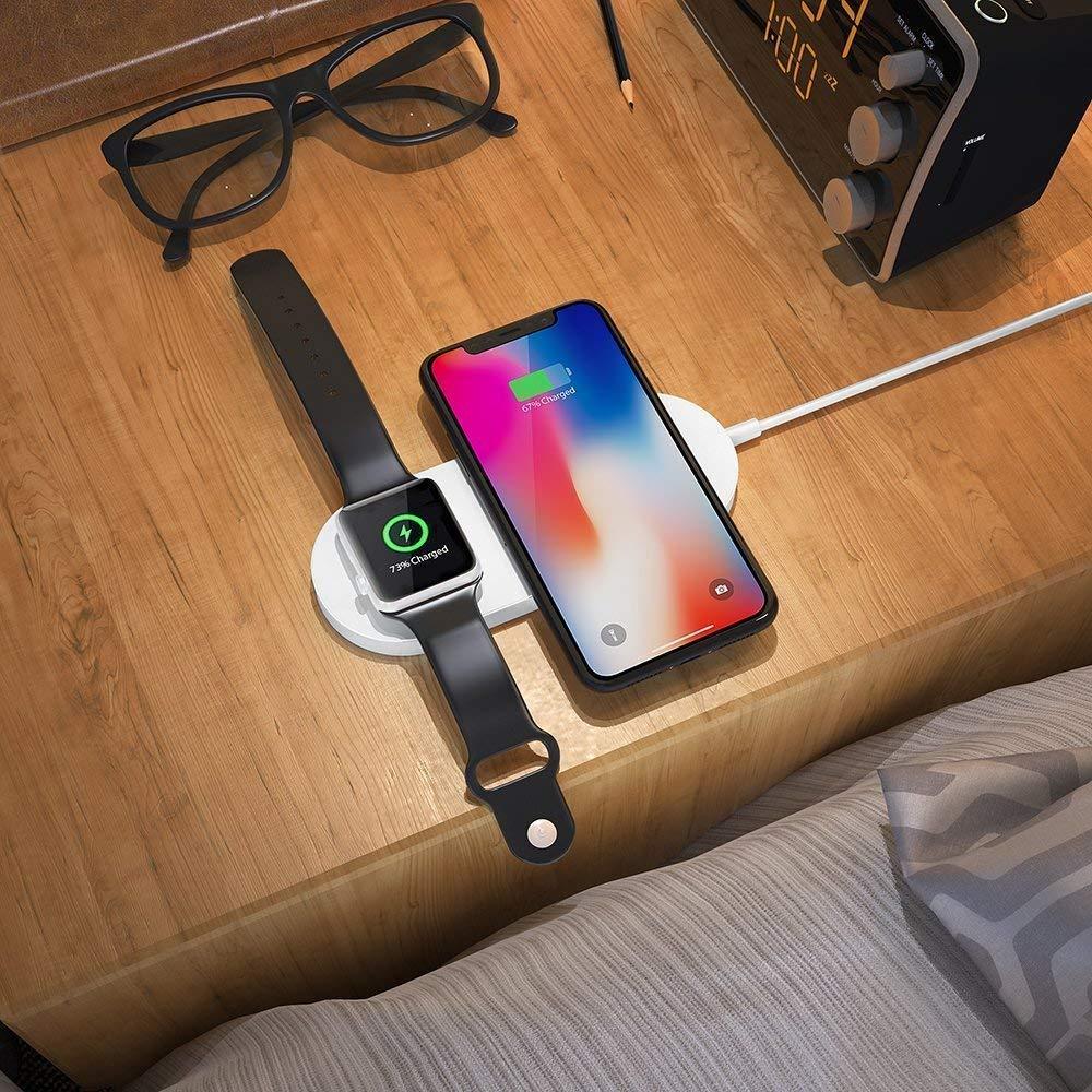 1 Apple İzle, Manyetik Kablosuz Şarj 2 için Kablosuz Şarj iPhone için şurada Pad Uyumlu Şarj Standı
