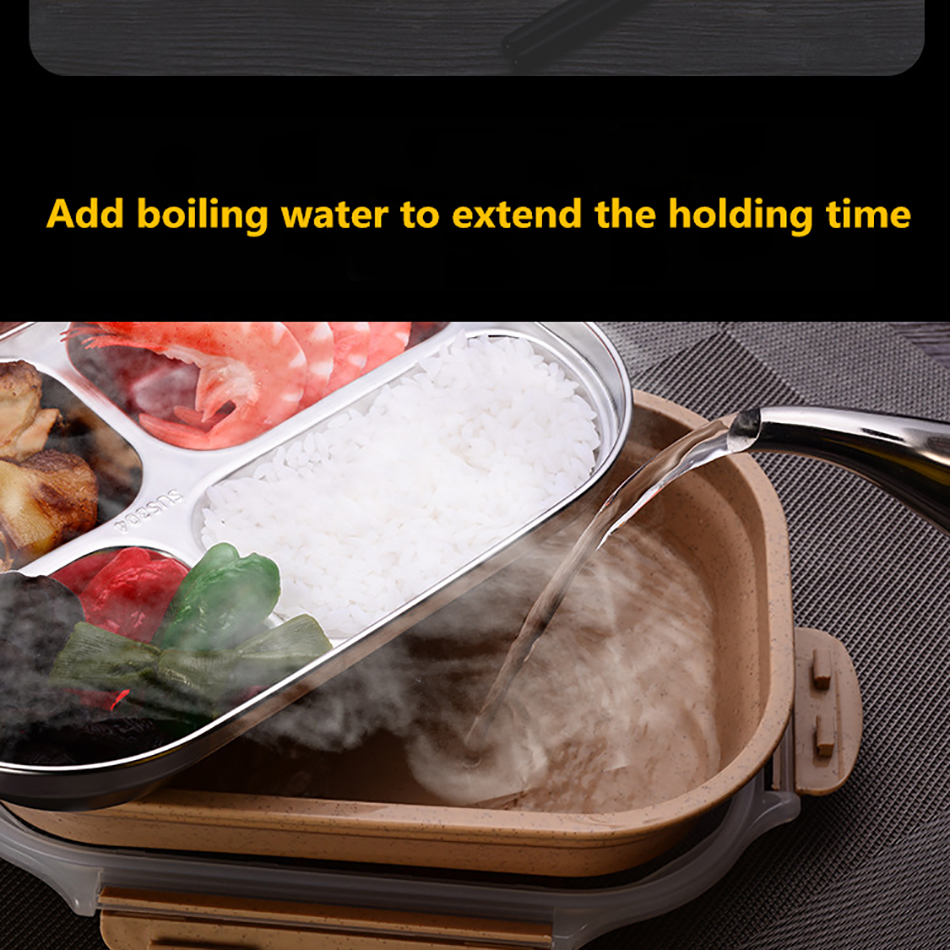 ONEUP stainless steel Lunch box Eco-friendly Wheat Straw Food container with cutlery Bento Box With Compartments Microwavable 7
