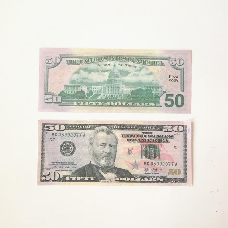 Magic spray money US $5 10 20 50 100 US $paper banknote fake money shooting props movie money children's toys