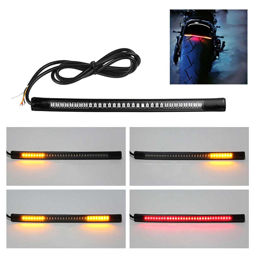 R/ücklicht Bremslicht LED Rot Nummernschildbeleuchtung Kennzeichen Leuchte Belt schwarz f/ür Motorrad Quad neu