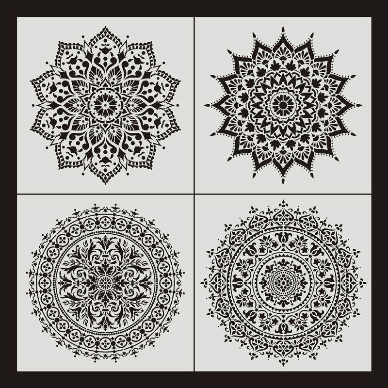 16 Pochoir Mandala Isuperb 16 Pieces Pochoir Mandala Pochoir Peinture Mandala Dotting Pochoirs Modele Painting Stencils De Diy Murale Meuble Decoration Azzo Com Br