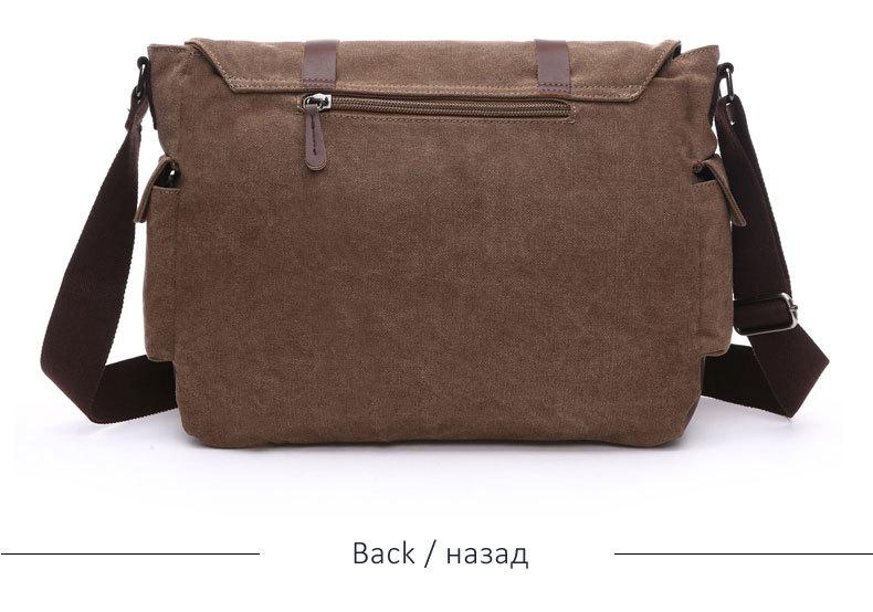 Leisure Canvas Briefcase Bags Shoulder Bag Business Functional Messenger Bag