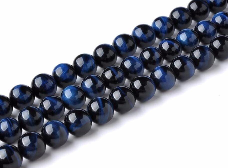 "UK SELLER 15.5/"" Natural Blue Tiger Eye Gemstone 4mm Round Bead Jewellery DIY B5"