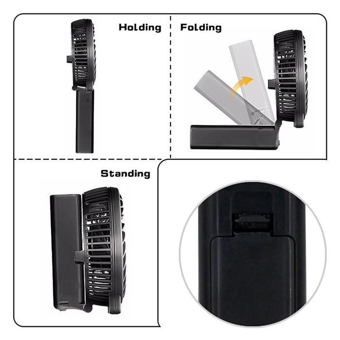 Der tragbare wiederaufladbare Mini-USB-Luftkühler enthält eine 18650 Batterie