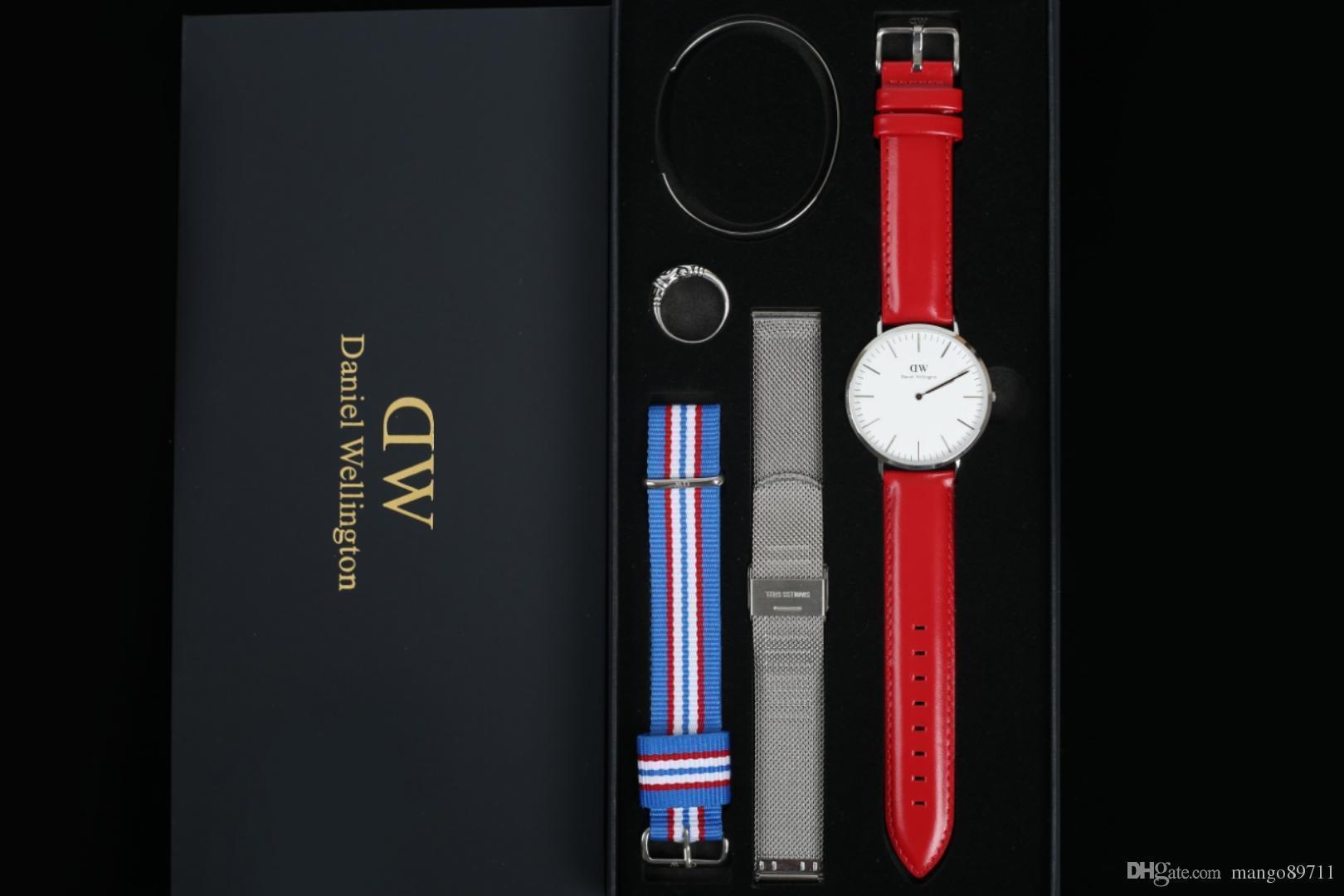 Designeruhren Herren Daniel Wellington Dw Uhren Herren Sport Freizeituhr Damen 36mm Mode Quarzuhr / set Armbanduhr