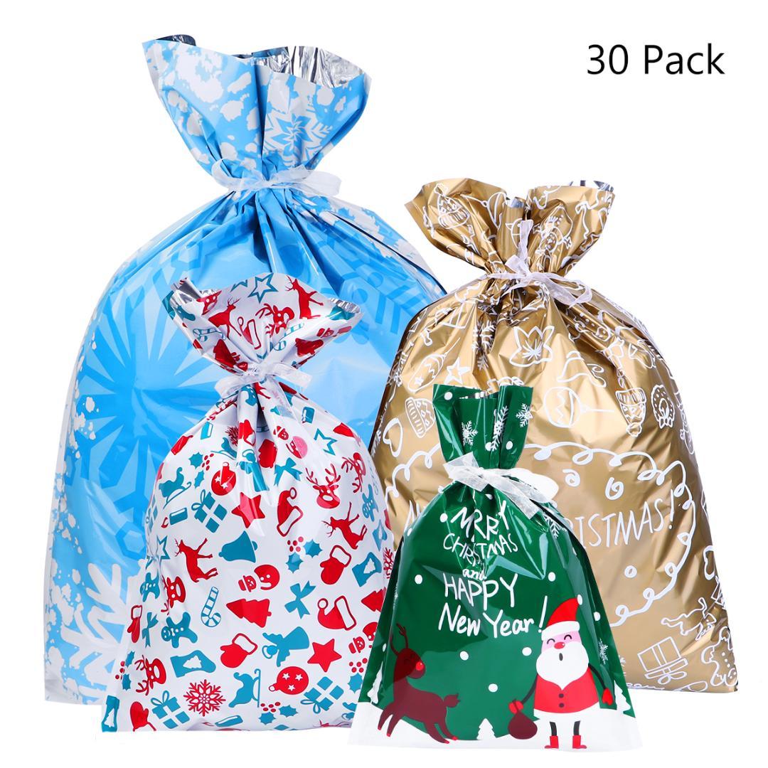 BBTO 100 Pezzi Sacchetti da Regalo Sacchetti in Plastica Sacchetti Bomboniere per Compleanno Celebrazioni delle Feste 10 Stili