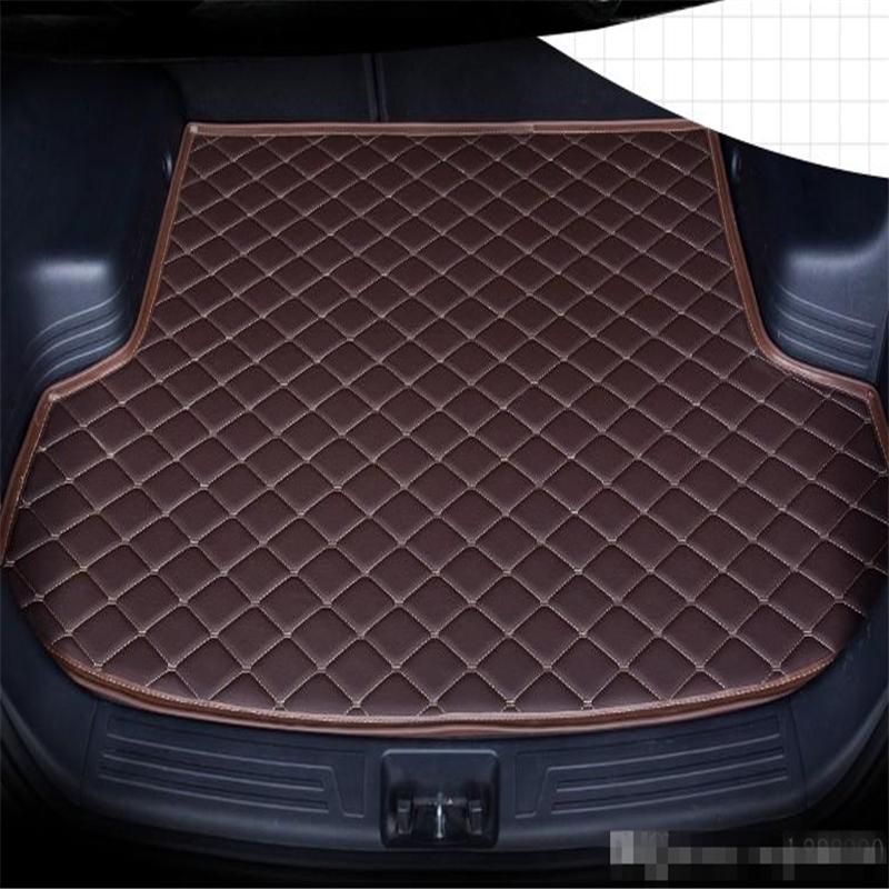 Para Carro KIA KX1 2019 anos s Anti-skid Mat Trunk Waterproof couro Tapete Car Mat Trunk Plano Pad
