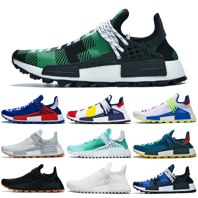 Human Race Hu trail pharrell williams Running Shoes for Men Know Soul in Volt Creme nerd Women Mens Trainers 2019 Sports Runner Sneakers