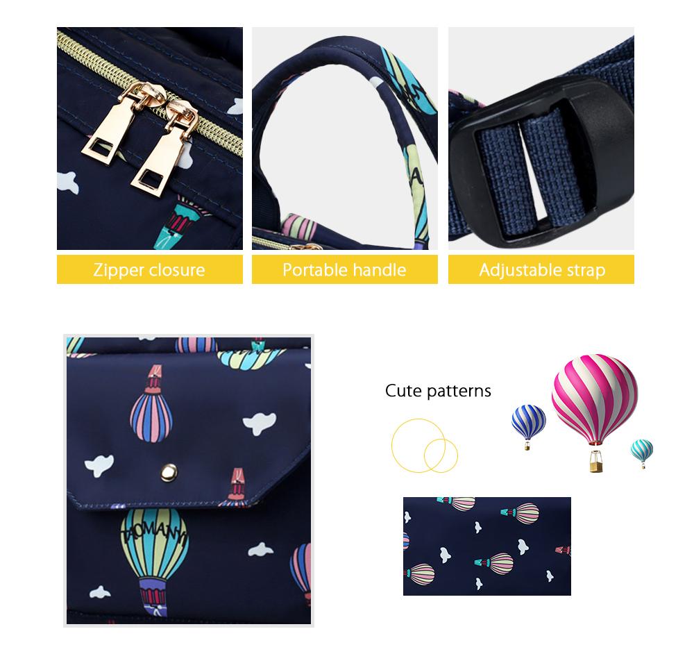 Diaper Bag Cute Pattern Waterproof Large Capacity Mother Women Backpack (3)