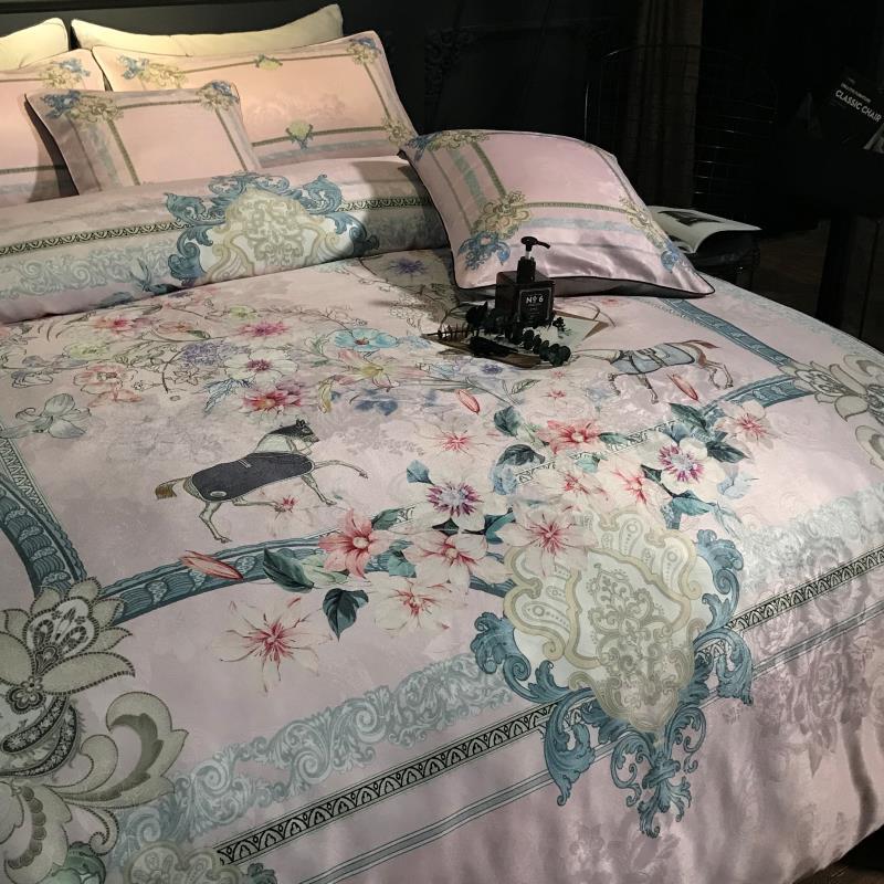 Мода 4 шт постельного белья для взрослых включают пододеяльник простыня наволочка идеальное качество и классический цвет desgin
