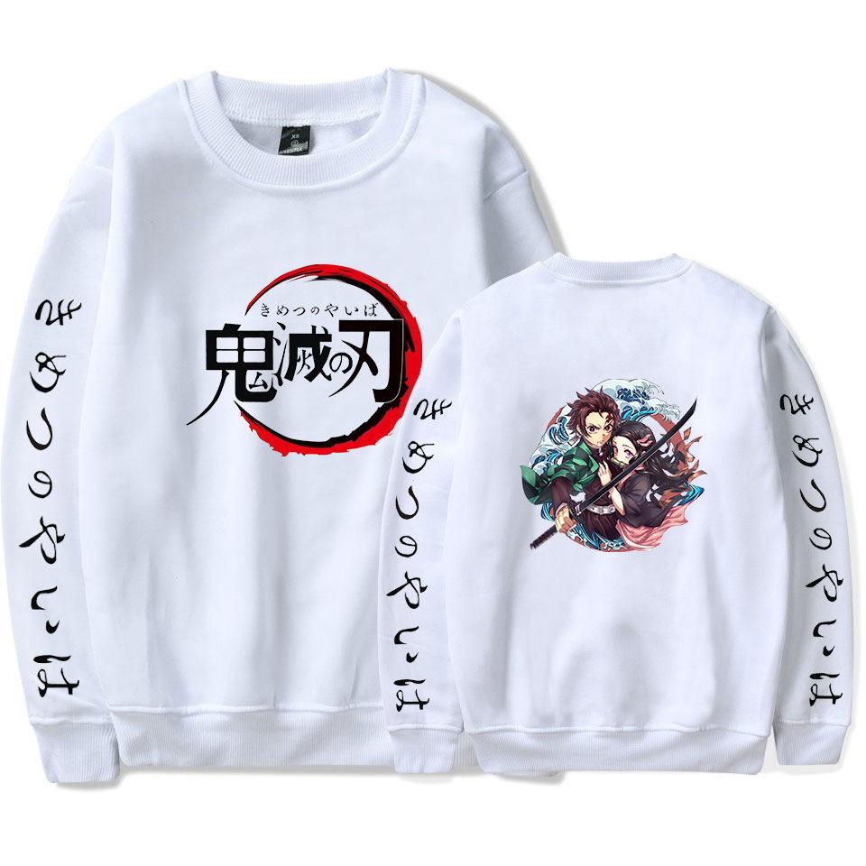 Anime Demon Slayer Kimetsu No Yaiba Crewneck Sweatshirt Women Men Harajuku Casual Long Sleeve Pullovers Funny Hoodie Streetwear