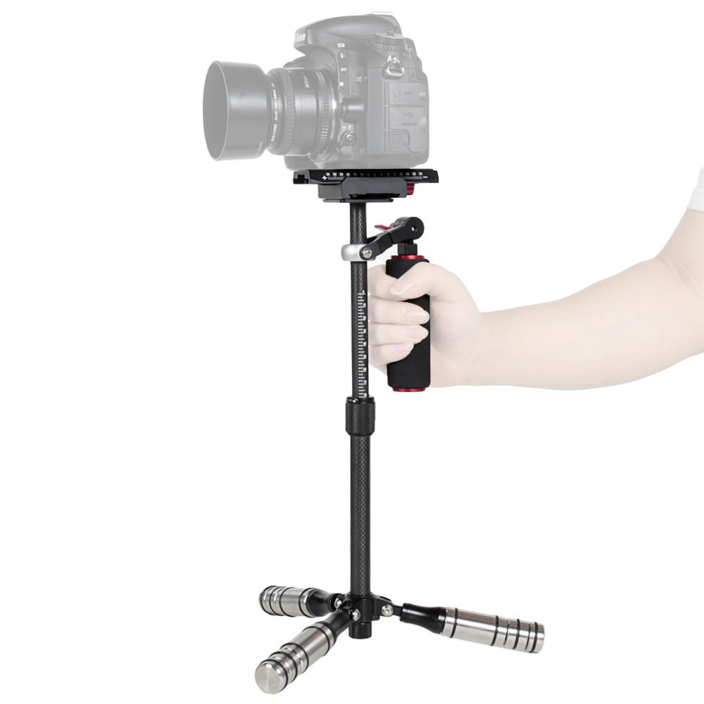 Camera Stabilizer 28-40cm Maximum Burden 0.2-2kg Carbon Fibre Handheld Stabilizer Solo for DSLR /& DV Digital Video /& Other Cameras