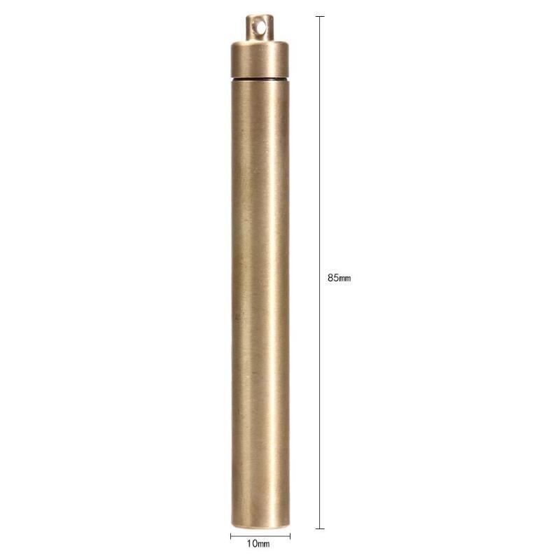 EDC Gear Mini Brass Self-defense Waterproof Storage Container Box Tool FSC-12