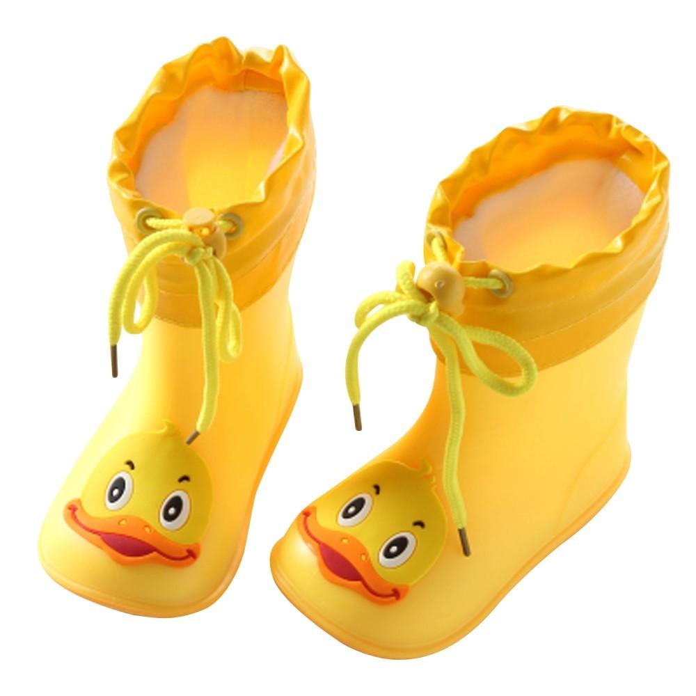 Cute Girls Boots round toe Lace Bowknot Waterproof Warm Children Kids High Boots