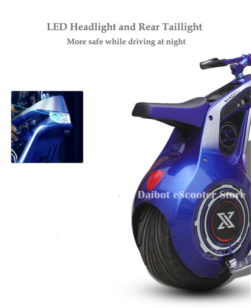 Powerful Electric Scooter One Wheel Self Balancing Scooters 19 Inch Motorcycle 800W 60V Electric Unicycle Scooter With APP (6)