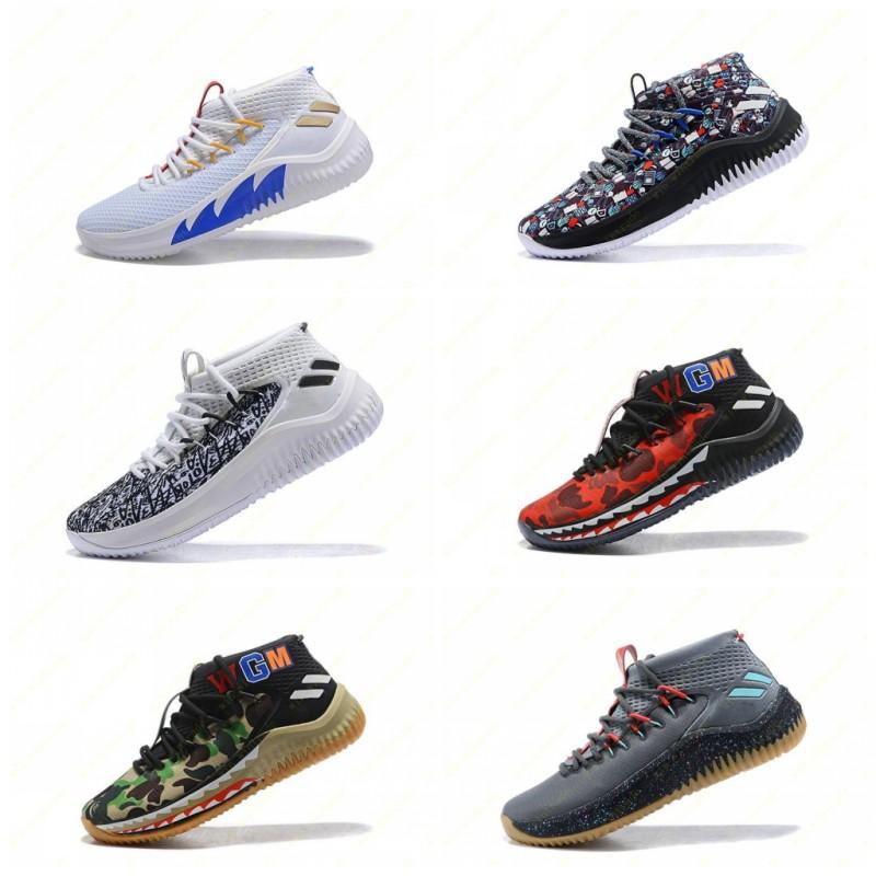 Nouveau D Lillard 4 Chaussures de basket Crazylight Dame 4.0 Rip White City Noir Rouge Ecru Signature sport pour hommes Marque 7 12
