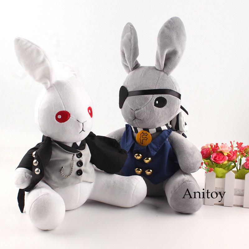 Anime Kuroshitsuji Black Butler Peluche Bambola Coniglio Cosplay Ciel Phantomhive Peluche Bambini 32 cm Y19070103