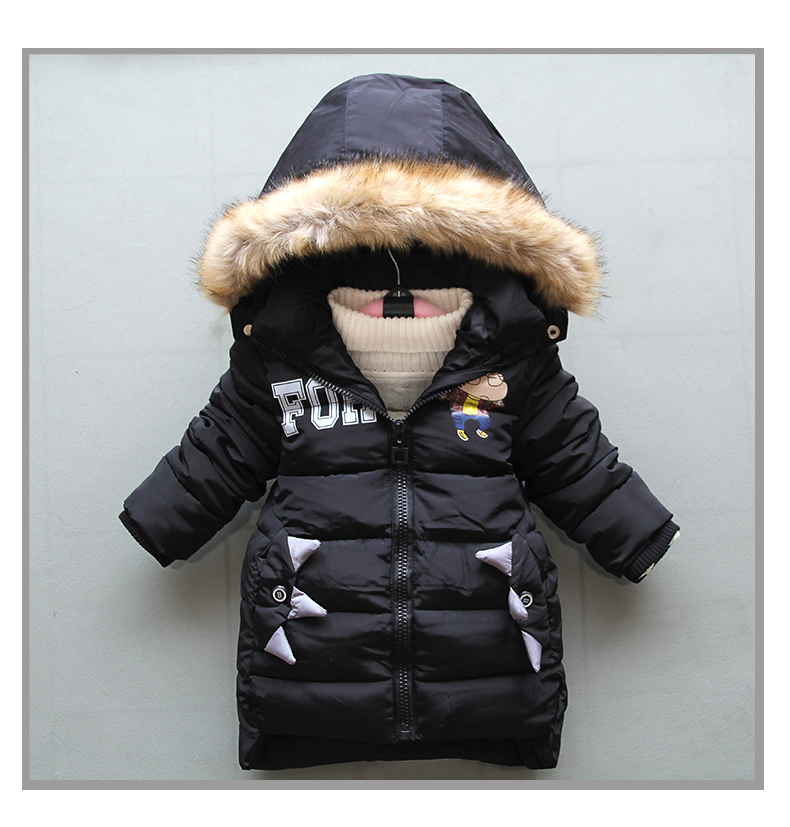 mochencheng`Girls winter clothing warm Down jacket for boys clothes Winter Thicken Parka real Fur Hooded Children Outerwear Coats