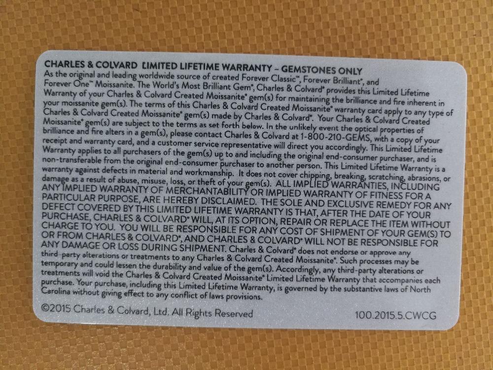 Moissanite Certificate 2