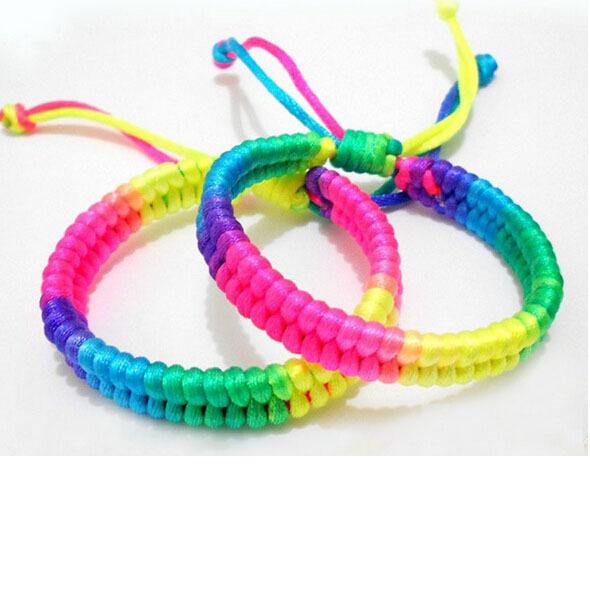 KELITCH Lovely Tassel Friendship Bracelet mash up Handmade Wrap Strand Bracelet Girls//Kid Gift