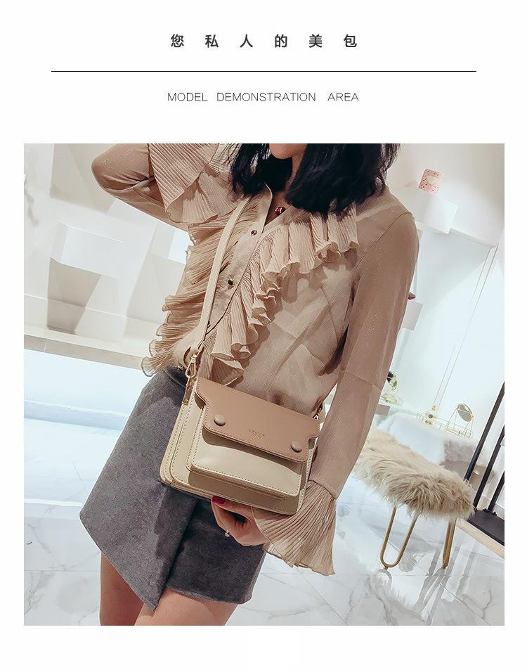 Decent2019 Organ Color Hit Bag Mujer Paquete Bolso oblicuo Conciso Solo hombro Pequeño paquete cuadrado Más capacidad de capa intermedia