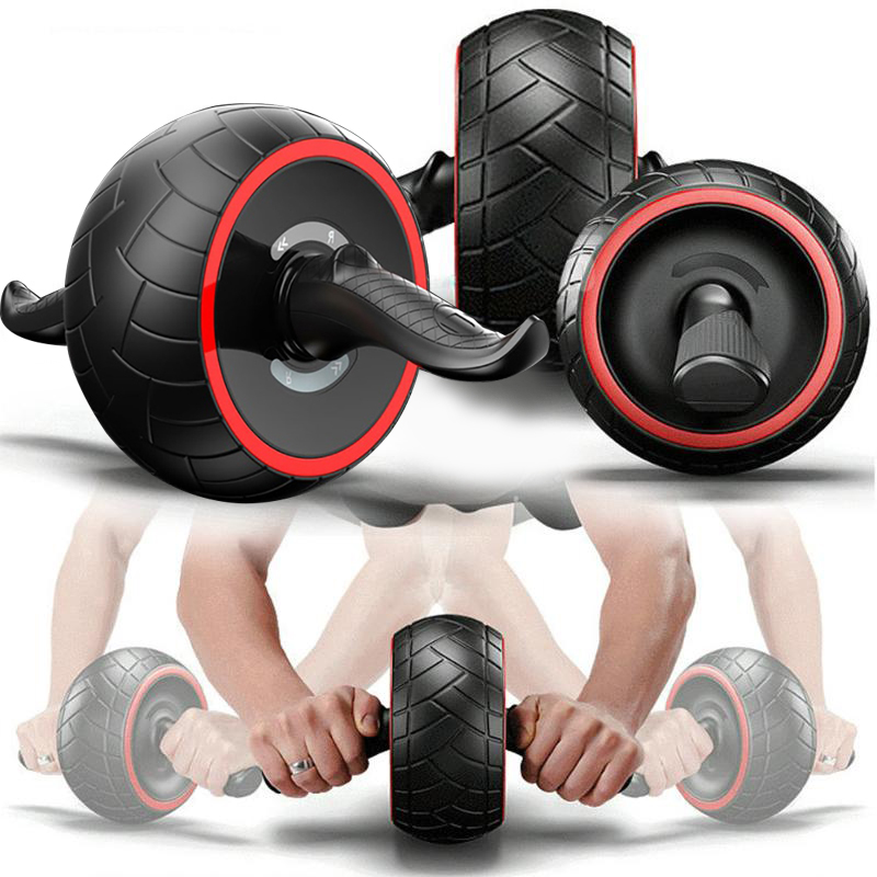 2019 New Rebound Abdominal Wheel Giant Wheel Mute Fitness Equipment Home Ms. Reduced Tummy Roller Pulley Men's Training