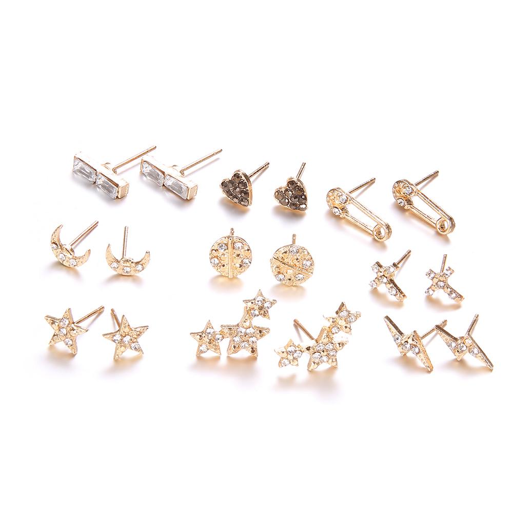 9-par-set-Luna-estrellas-coraz-n-rayo-Bijoux-pendientes-del-perno-prisionero-de-cristal-para (2)
