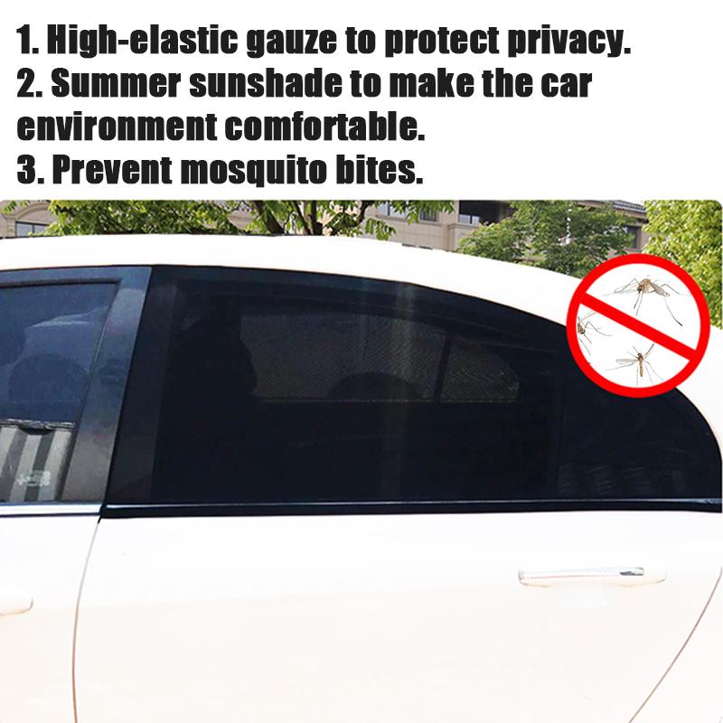2pcs Car Window Sun Sun Cover Sunshade Curtain UV Protection Shield Visor Mesh