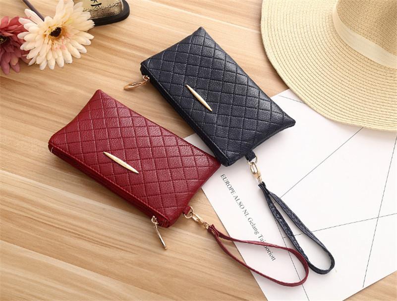 x02-women wallets leather long wallet phone bag case