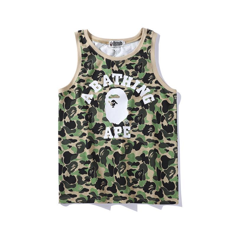 mens designer hoodies Camouflage Cartoon Printing Teenagers Leisure Time Cotton Material Vest