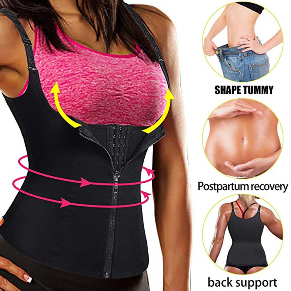 wholesale Women Shapers Neoprene Body Shaper Slimming Waist Trainer Corset for Weight Loss Sauna Hot Sweat Trimmer Vest Shape Wear